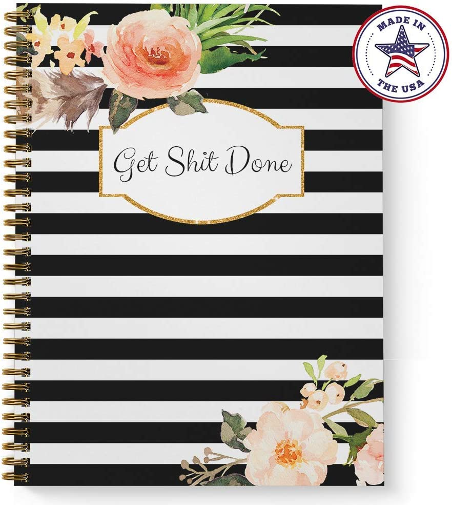 Softcover Classic Floral Get Stuff Done 8.5