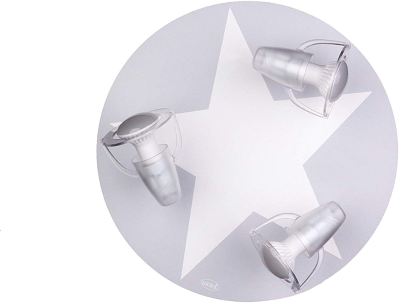 gris dreiflammige Chambre denfant plafonnier avec /étoile E14