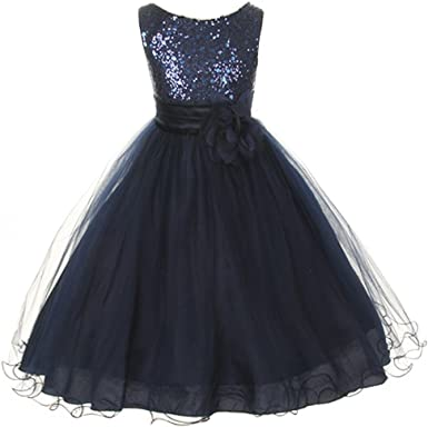 Armadio minerale pacchetto  Amazon.com: Flower Girls Big Girls' Dress Sequin Glitter Beaded Pageant Navy  Blue: Clothing