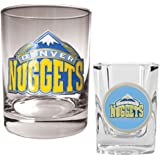 NBA Rocks Glass & Square Shot Glass Set - Primary Logo