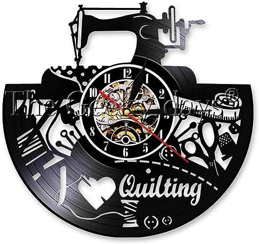 CVG 1 Pieza de máquina de Coser Reloj de Pared con Registro de ...
