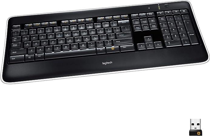 itech K800 - Teclado (RF inalámbrico, Negro, Microsoft Windows XP/Windows Vista/Windows 7)