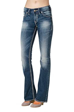 Amazon.com: Silver Jeans Women Suki Bootcut Mid Rise Curvy Fit ...