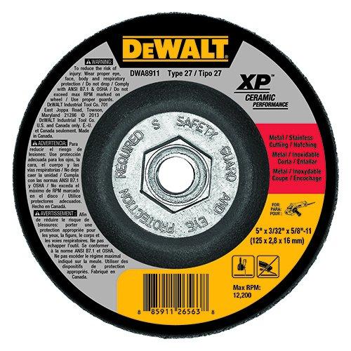 DEWALT DWA8911 Extended Performance 5-Inch x 3/32-Inch x 5/8-Inch -11 Ceramic (Dewalt Stainless Steel Grinding Wheel)