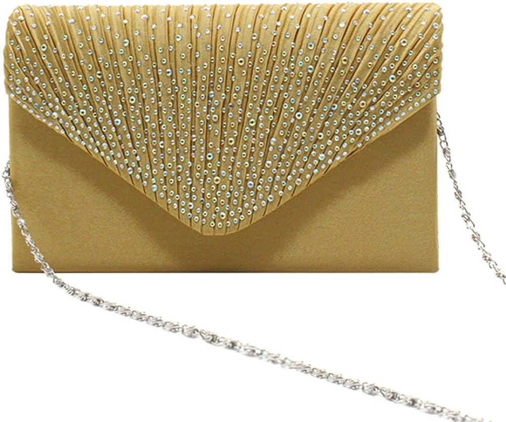 Dreneco Femme Enveloppe Diamant Pochette Soir/ée//Mariage De Mari/ée//Sac /À Main