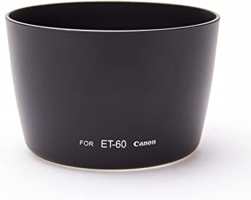 Hardened ABS Plastic OEM Quality 1x Lens Hood for Canon ET-60 DSLR - Fovitec