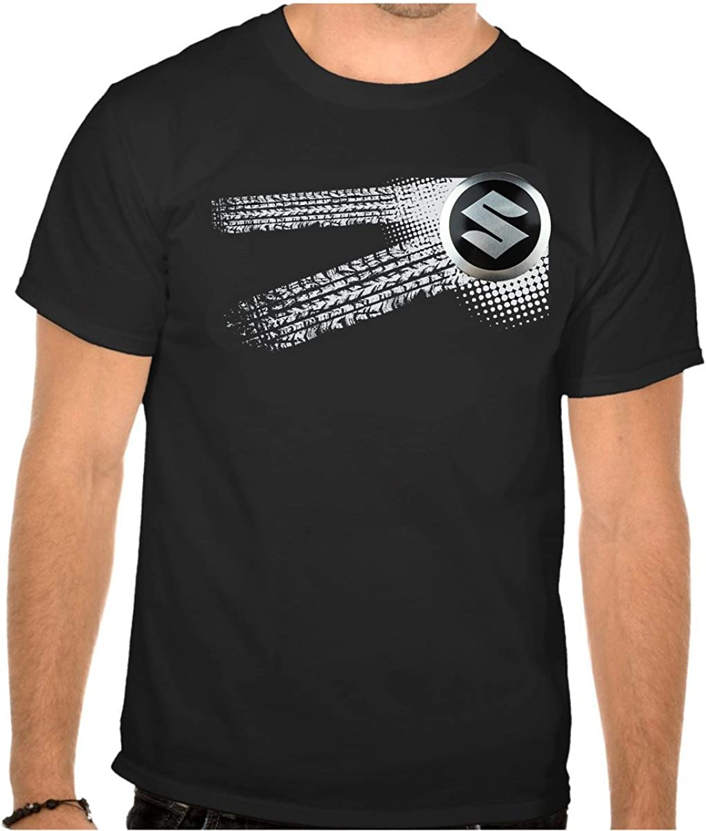 mmshop18 Suzuki Auto Logo Car Noir T-Shirt 618