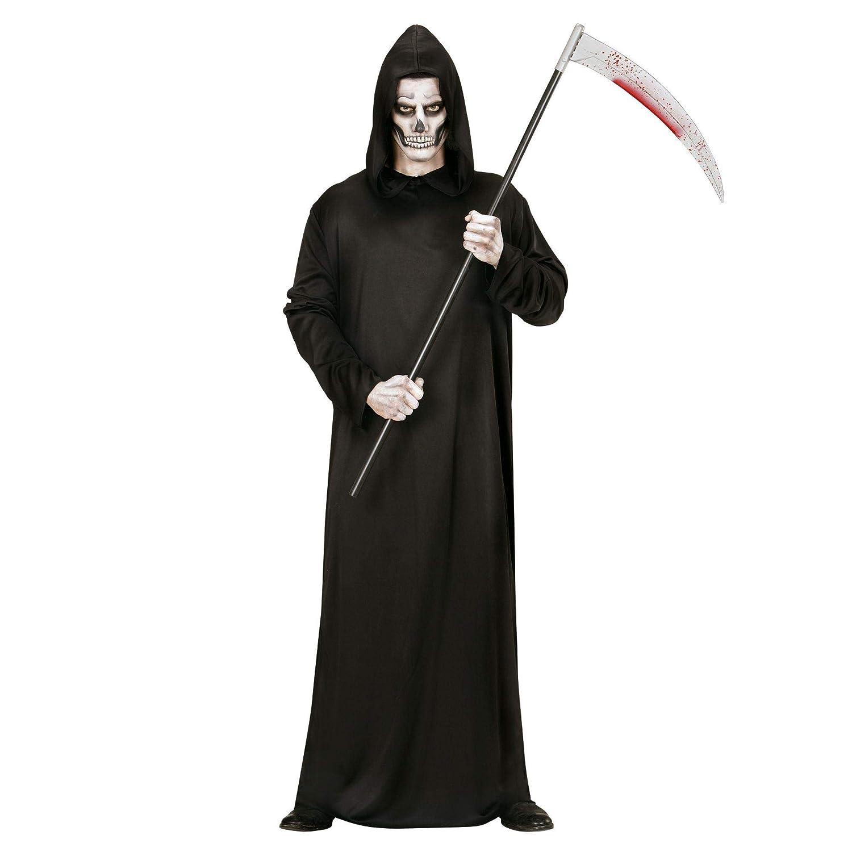 GRIM Reaper Falce Da Uomo Halloween Morte Nera Robe Adulto Costume Horror Nuovo