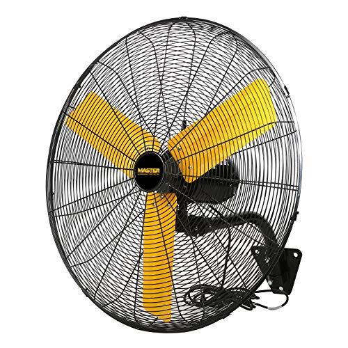 MASTER MAC-30WOSC Professional High Velocity Oscillating Wall Fan, 30-Inch, 3 Speed, 6,000 Cfm, Osha Compliant, Black