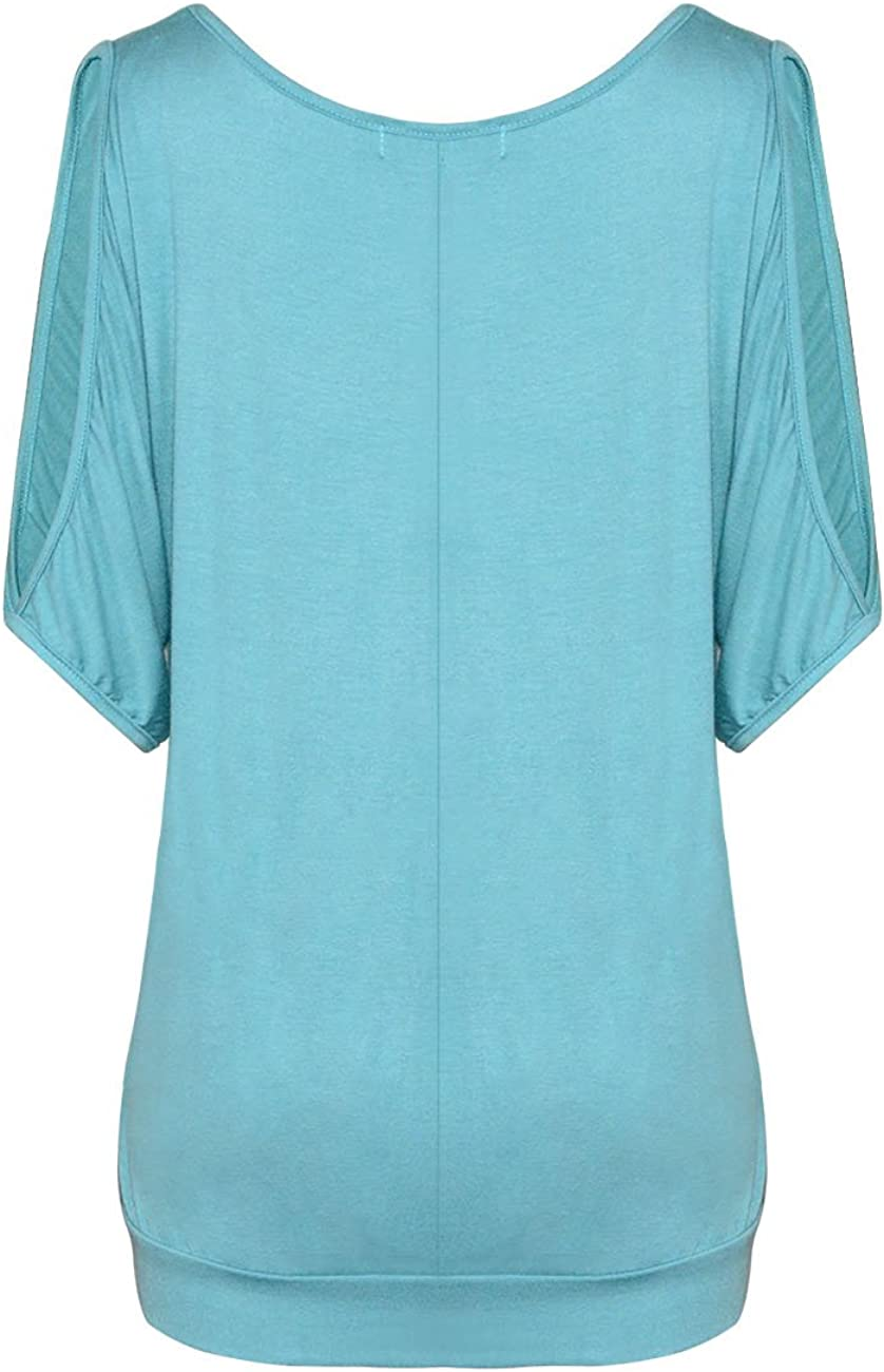 Yidarton Bluse Damen T Shirt Damen Sommer Elegant Frauen Tr/ägerloses Top Short Feder Druck Damenblusen Kurzarm
