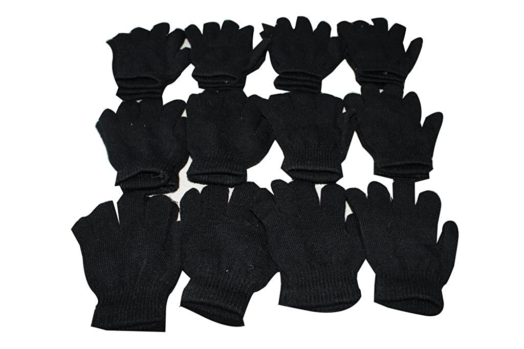 12 Pairs of Black childrens magic gloves