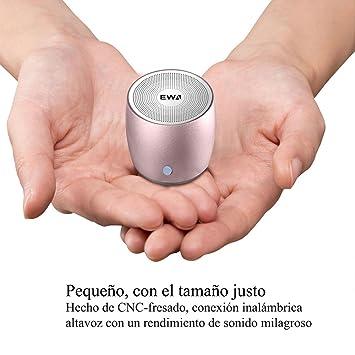 EWA A-103 Altavoz inalámbrico portátil (Bluetooth, Extra Bass, NFC, 6h de batería): Amazon.es: Electrónica