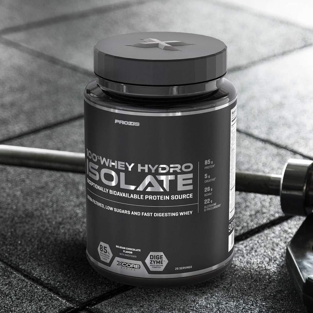 Prozis 100% Whey Hydro Isolate SS Mejor Sabor Para la Quema De Grasas, la Recuperación Muscular y la Musculación, bajo en Carbohidratos, Chocolate ...