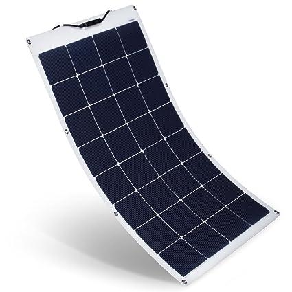 Amazon.com: SUAOKI Panel Solar 100W 18V Flexible Cargador ...