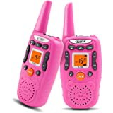 CRONY Walkie Talkies for Kids Girls T-358 22 Channels Two-Way Radios with 3 Miles Range Walkie Talkie Toys for Girls Boys Children (Pack of 2, Pink)