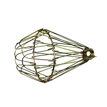 ASVP Shop® Brass / Black Wire Bulb Cage, Clamp On Lamp Guard ...
