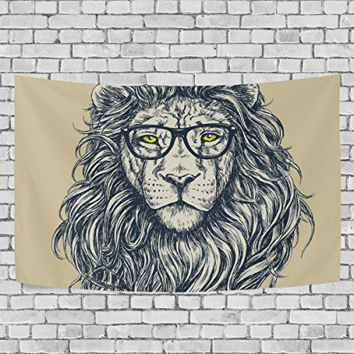 Sunlome Forest Lion King Home Decor Hipster Tapestry Wall Art For Living Room Bedroom Decoration 90 X 60 Inches