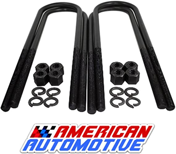 American Automotive Square U Bolts 12.5 Extra Long Certified OEM Factory Material Set of 4