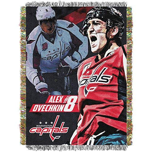 The Northwest Company NHL Alexander Ovechkin Licensed Tapestry Woven Throw, One Size, Multicolor