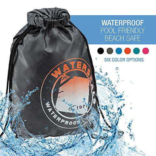 Lewis N. Clark WaterSeals Cinch Drawstring Backpack with Ripstop Waterproof Material to Protect Wallet, iPhone and Valuables at The Beach, Pool + Camping, (Best Hitop Backpacks For Women)