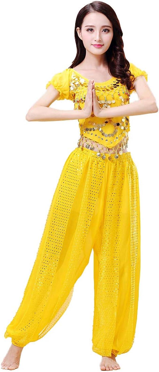 Aiweijia Mujeres Danza del Vientre Conjunto de Disfraces de Gasa ...