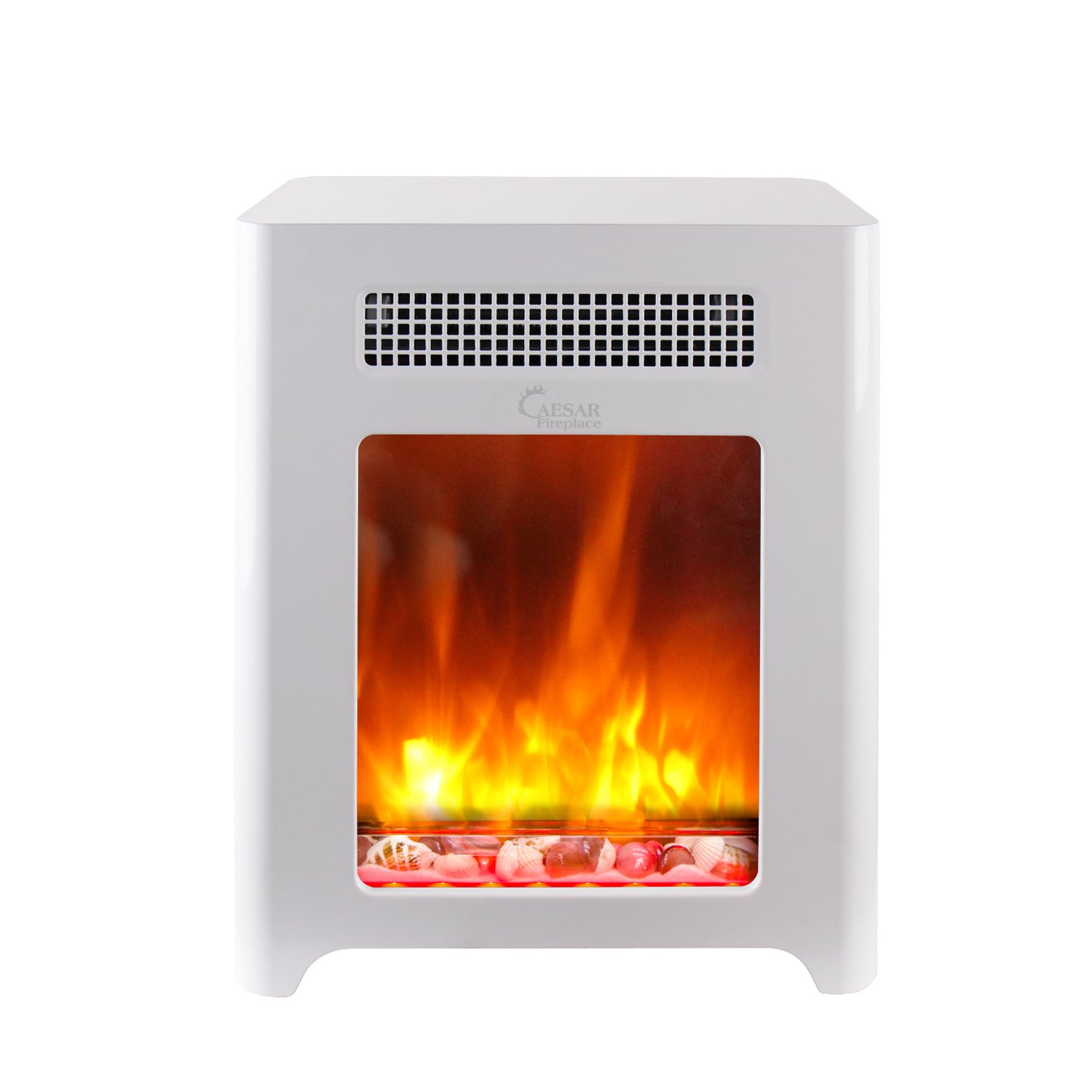 Caesar Fireplace CHFP-003 Luxury Portable Mini Indoor Compact Freestanding Room Heater
