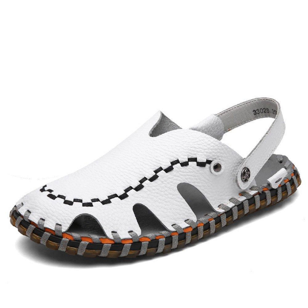 Sandalias Hechas A Mano Cómodas De Verano Ligero Baotou Transpirable Adaptable Zapatos Antideslizantes Zapatos De Ocio 41 EU|White