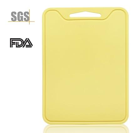 Topshome 食品グリード シリコン 柔らかい まな板 跡がない板(黄)