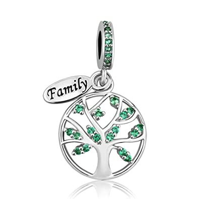 63207797a7a4b Uniqueen Family Tree of Life Dangle Charms fit Charm Bracelet & Necklace