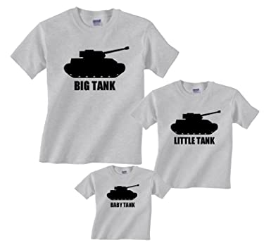 49c2f3ce Amazon.com: Footsteps Clothing Big Tank, Little Tank, Brother Tank, Baby  Tank Matching T-Shirts Father Son: Clothing