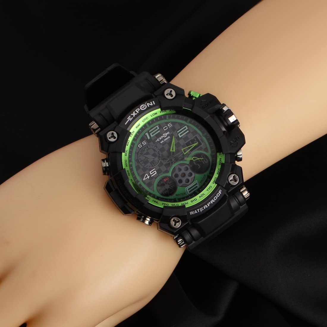 Exponi  Premium Waterproof Multi Functional Military Style Wrist Watches