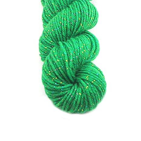 Acrílico de lujo el hilado de lana para hecha a mano de la bufanda del suéter de hilo con la Línea de Oro-fruta verde