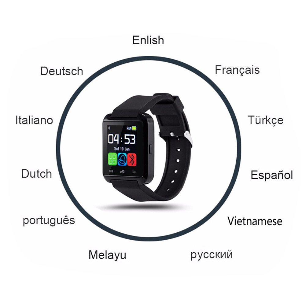 DOESIT Touch Screen Smartwatch U8 Bluetooth Smart Watch for Samsung Galaxy HTC Nexus Sony LG Huawei Android Smartphones by DOESIT (Image #9)