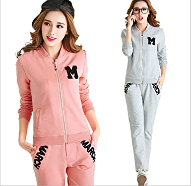 SY-001 Spring Women Sport Suits Long Sleeve Tracksuit Jogging Suits Top +  Pants One Set at Amazon Women's Clothing store
