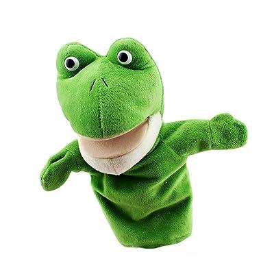 """YEYZ-WJ Juguetes de los niños Marionetas de Mano de Animales, Juguetes de Peluche de Rana de 10"""", Juegos de simulación/Regalo de Peluche for niños de 3 años en adelante: Hogar"""