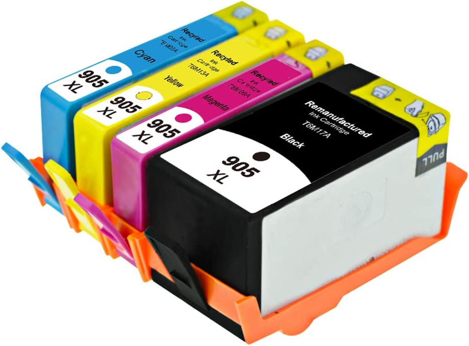 for HP 6960 6970 6950 Printer OfficeJet pro Large-Capacity Ink cartridge-4-set GYBN Ready-to-use Large-Capacity Color 905XL Ink Cartridge for HP 905 Ink Cartridge pro6960 6950 Ink Cartridge 6970