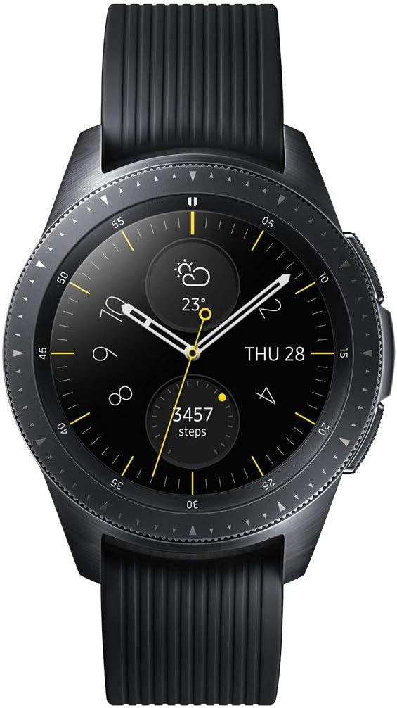 Samsung Galaxy Watch Bluetooth, Reloj inteligente con SAMOLED, Pantalla táctil, GPS (satélite), Negro, 42 mm