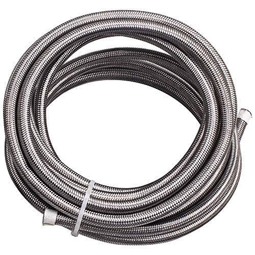 20FT AN6-6AN Stainless Steel Teflon/PTFE Fuel Line Black Fitting E85 Ethanol by Tuningsworld (Image #4)