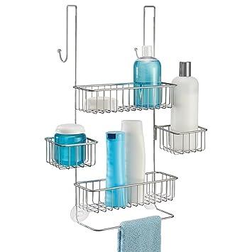 Duschzubehör mdesign duschablage zum hängen über die duschtür duschregal ohne