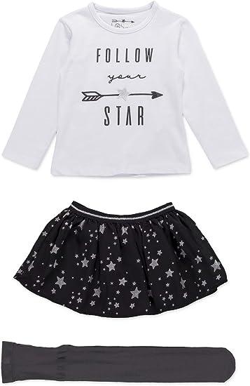 losan Conjunto Camiseta con Falda de Estrellas y Medias para niña ...
