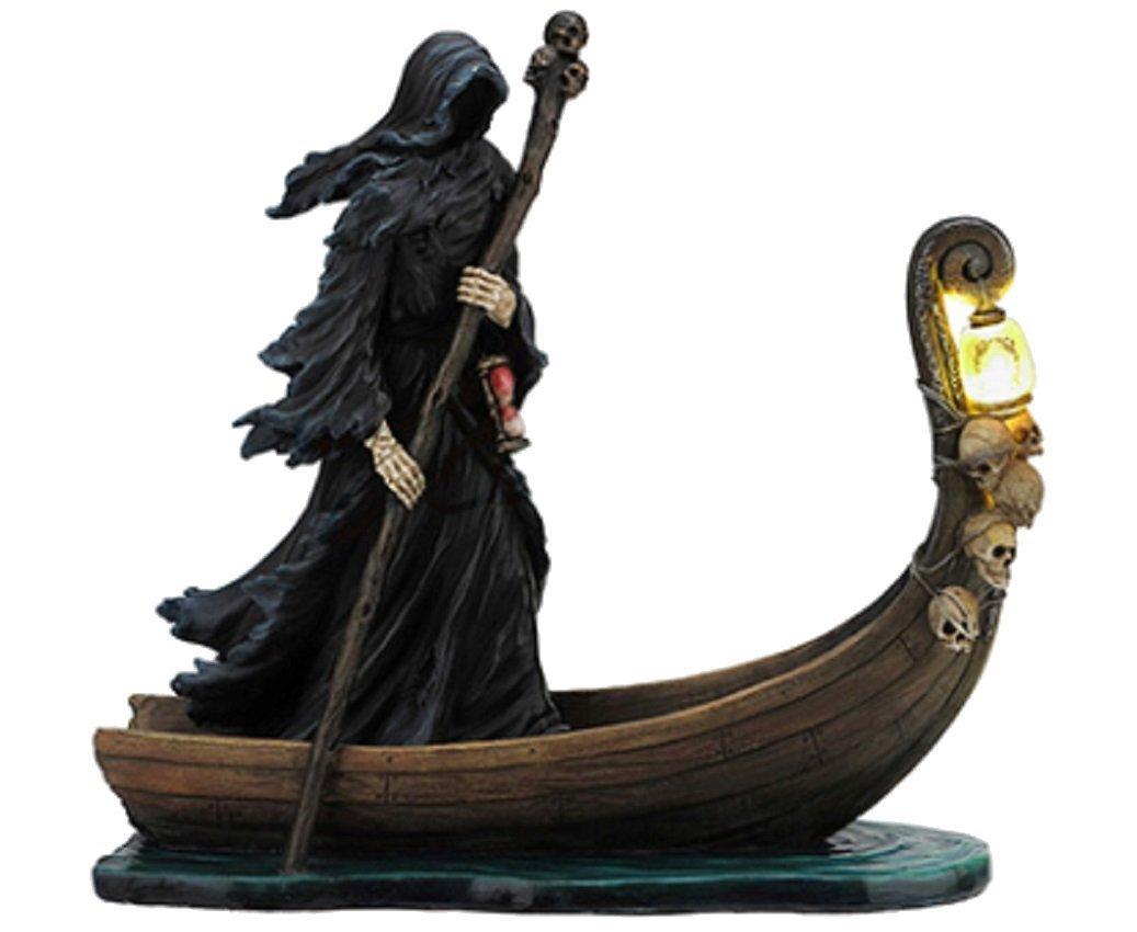 Charon Underworld Ferryman for Greek Gods Grim Reaper Death LED Lantern Statue