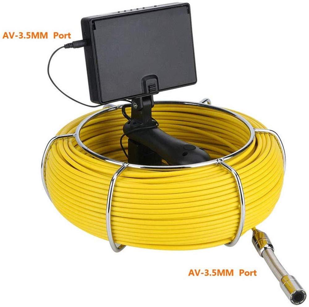 die wasserdichte Handkamera IP68 erkennt Rohrleitung Kanalinstandhaltungs-/Überwachungssystem 30M Fiberglas Endoskopkamera Endoskop Kamera Inspektionskamera 4 3-Zoll-Entw/ässerungs-Unterwasserforschung