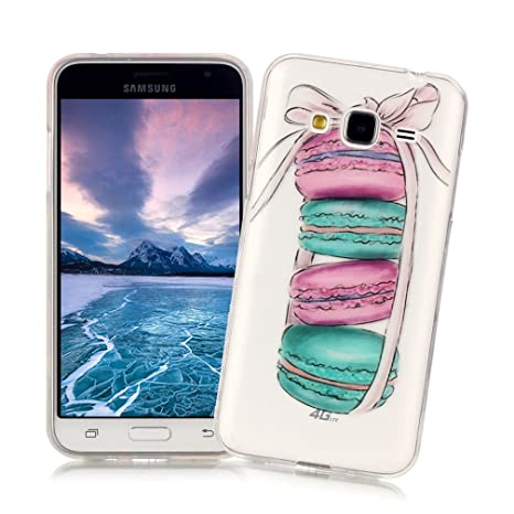 XiaoXiMi Funda Samsung Galaxy J5 2015 SM-J500F Carcasa Transparente de Silicona Caucho Gel para Samsung Galaxy J5 2015 SM-J500F Soft Slim TPU Silicone ...