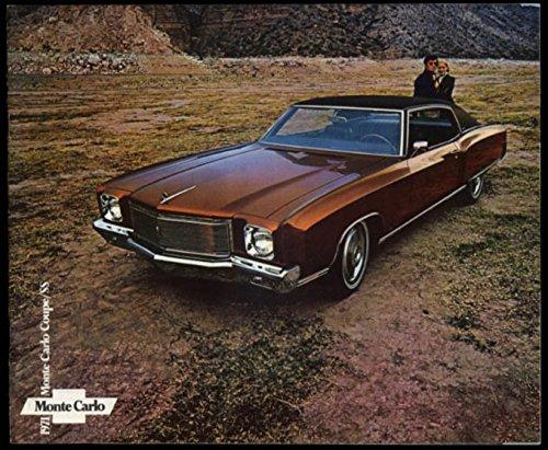 1971 Chevrolet Monte Carlo Coupe & SS sales brochure