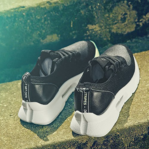 Deporte Verano Transpirable de Suave Zapatos Mujer de para aumentados negro Salvaje Moda QQWWEERRTT Hermana Zapatos Ocasionales Hilo Malla nuevos Zapatos de Zapatillas de de Zxqw0EB8E