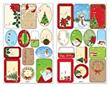 150 Christmas Holiday Reindeer Trees Birds Snowman Santa Gift Tag Stickers
