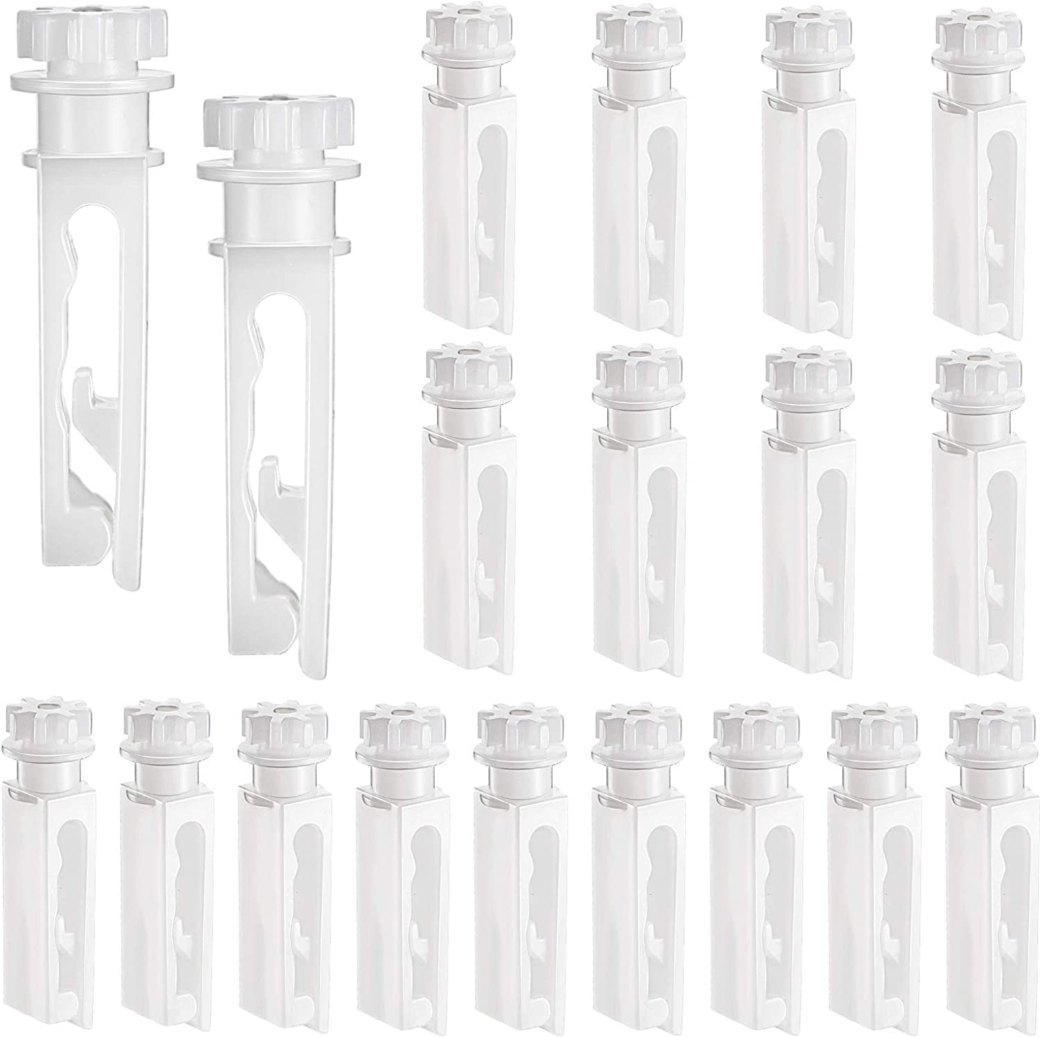 Vertical Blind Stem Replacement White Stems for Vertical Window Blind Vertical Blind Carrier Stem Vertical Blinds Curtain Accessories (12)