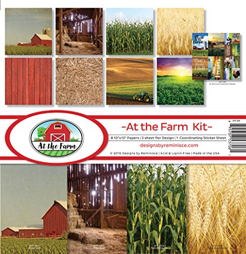 Reminisce ATF-200 At The Farm Scrapbook Collection Kit (Tractor Scrapbook Paper)