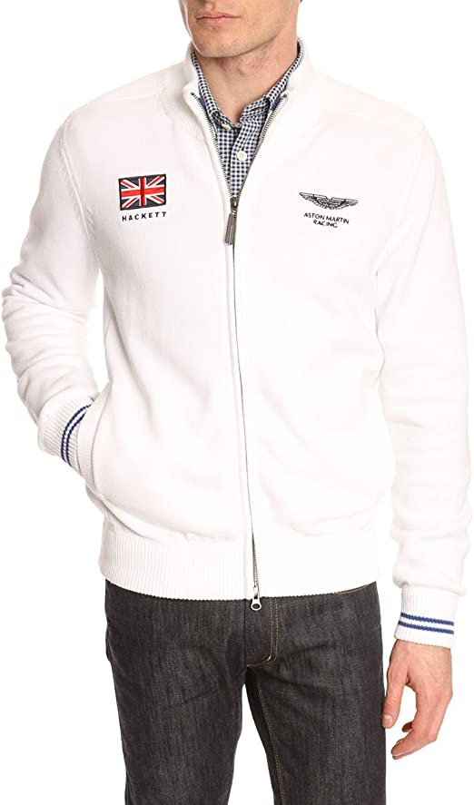 Hackett Strickjacken Herren Strickjacke Weiß Aston Martin Racing Ujk Für Herren S Amazon De Bekleidung