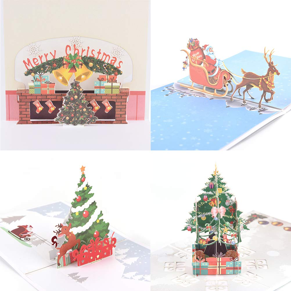 Peerless 6 Pcs 3d Pop Up Christmas Cards Xmas Gifts For Kids